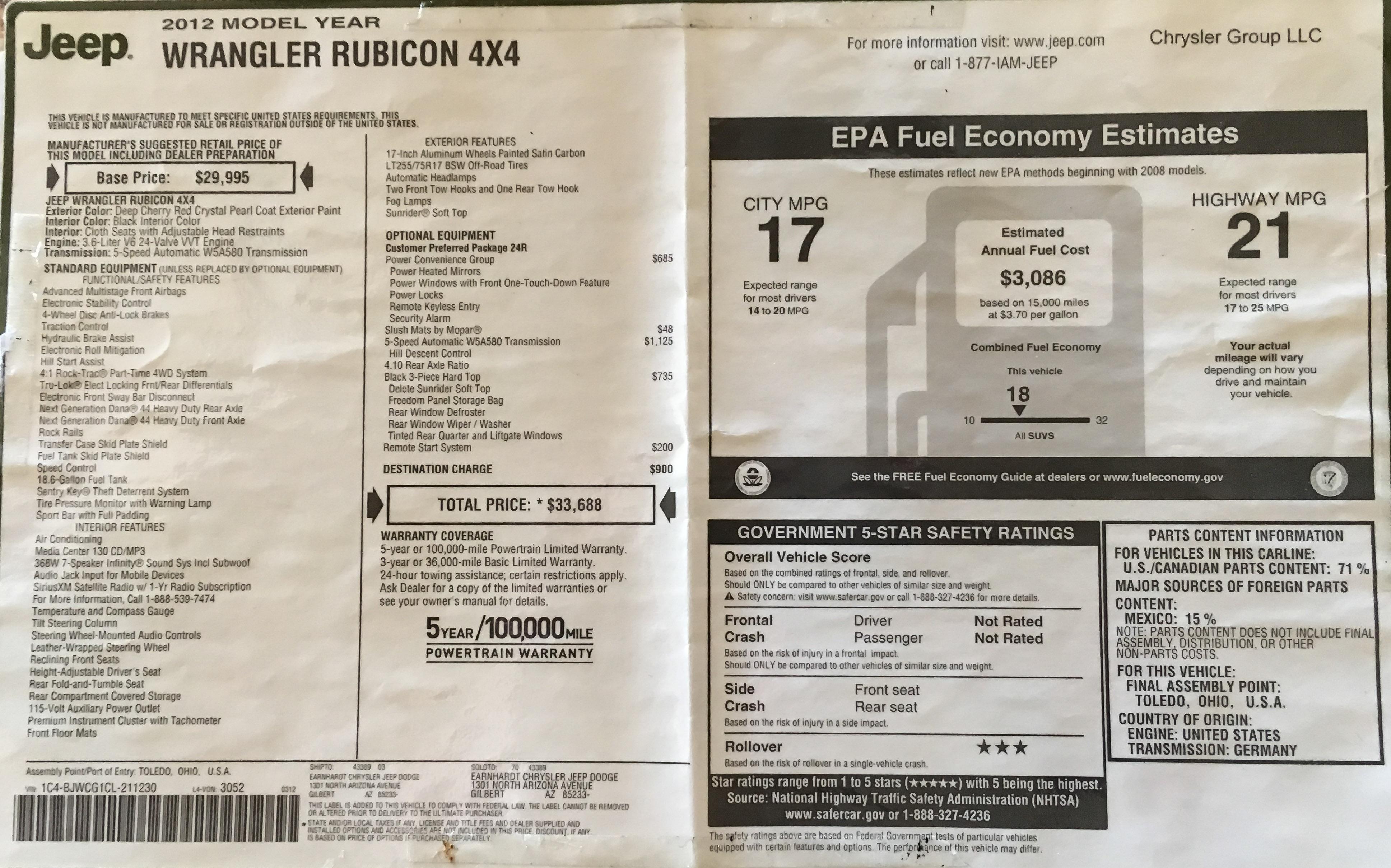 For Sale Jeep Jk Rubicon Exploring Elements